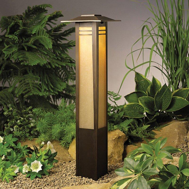 kichler zen garden 1 light bollard light reviews wayfair. Black Bedroom Furniture Sets. Home Design Ideas
