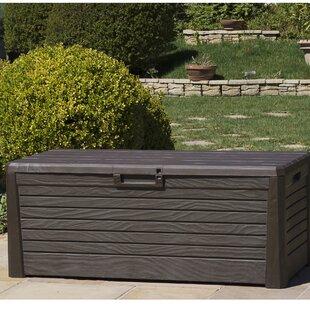 Wood Effect Garden 550l Plastic Storage Box