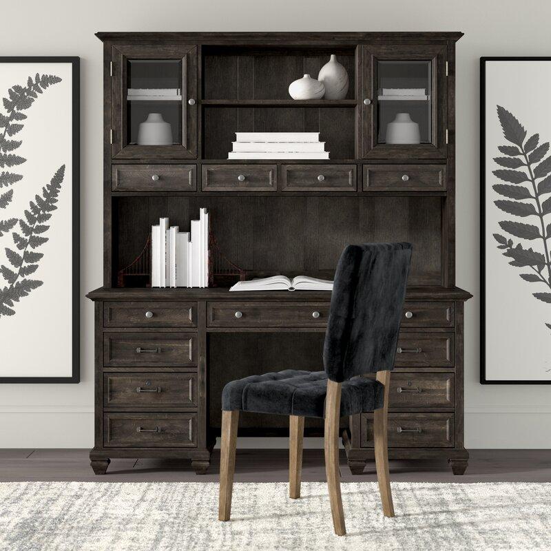 Bon Greyleigh Altenburg Executive Desk With Hutch | Wayfair