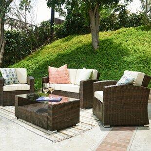9ea5c1d12d32a Bahia 4 Piece Sofa Set with Cushions