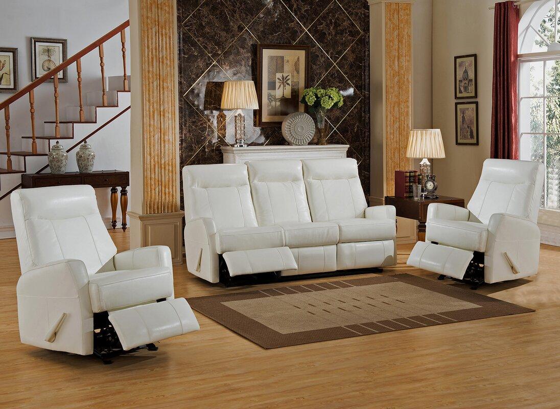 Amax Toledo 3 Piece Leather Living Room Set Wayfair
