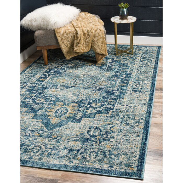 Jae Navy Blue Area Rug