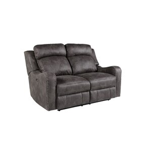 Candida Reclining Loveseat by Williston Forge