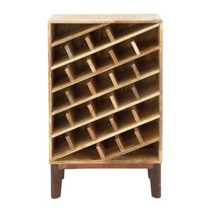 Wood 24 Bottle Floor Wine Bottle Rack by Cole & Grey