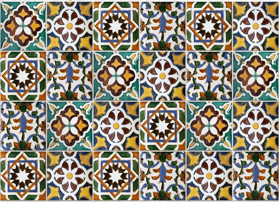 Green Tiles Kitchen Tiles Wall Decal