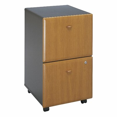 Bush Business Furniture Series A 2 Drawer Vertical File Cabinet Finish: Natural Cherry