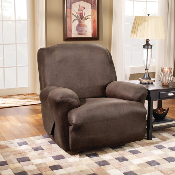 Stretch Leather T-Cushion Recliner Slipcover & Sure Fit Stretch Leather T-Cushion Recliner Slipcover u0026 Reviews ... islam-shia.org