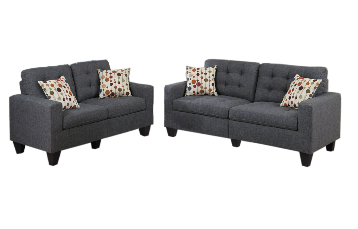 Zipcode Design Amia 2 Piece Living Room Set U0026 Reviews | Wayfair