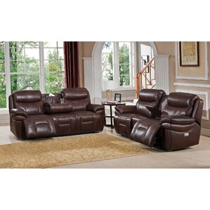 Sanford 2 Piece Leather Living Room Set by Amax
