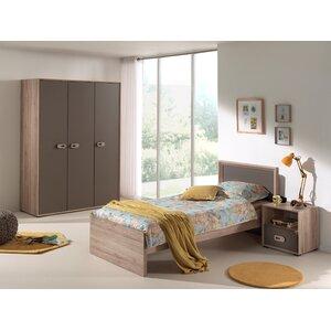 3-tlg. Schlafzimmer-Set Emma, 90 x 200 cm von V..