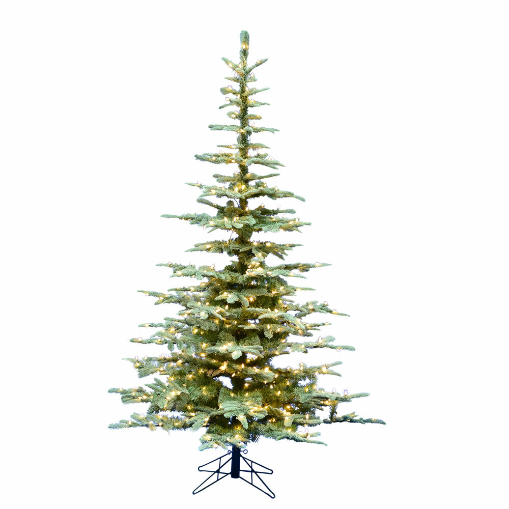 The Holiday Aisle Frosted Ardwell 7\' Green Spruce Artificial ...