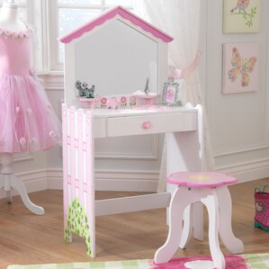 Dollhouse Vanity Set With Mirror