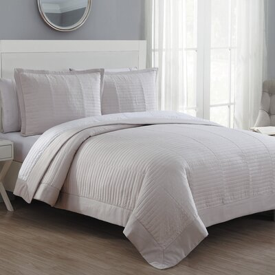 Grid Reversible Quilt Set American Home Fashion