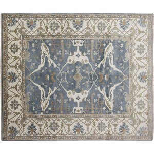 One-of-a-Kind Harkness Hand-Knotted Wool Gray Rug
