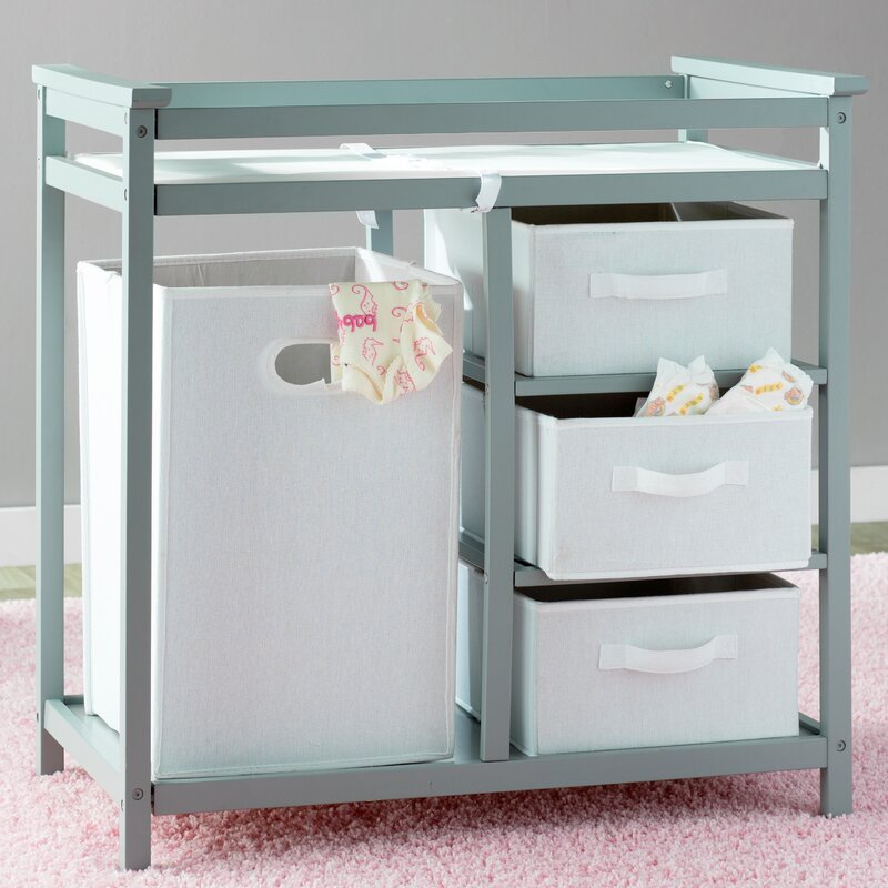 Sawyer Avery Changing Table With 3 Baskets And Hamper