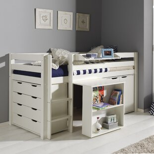 Pino European Single Mid Sleeper Bed with Desk and Chest of Drawers by Vipack