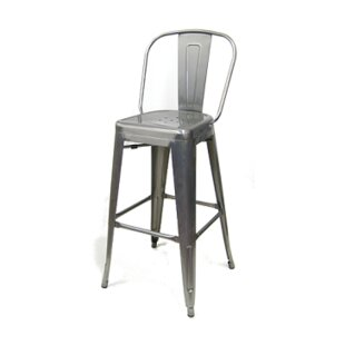 Crosslin 30 Metal-Galvanized Bar Stool (Set of 2)