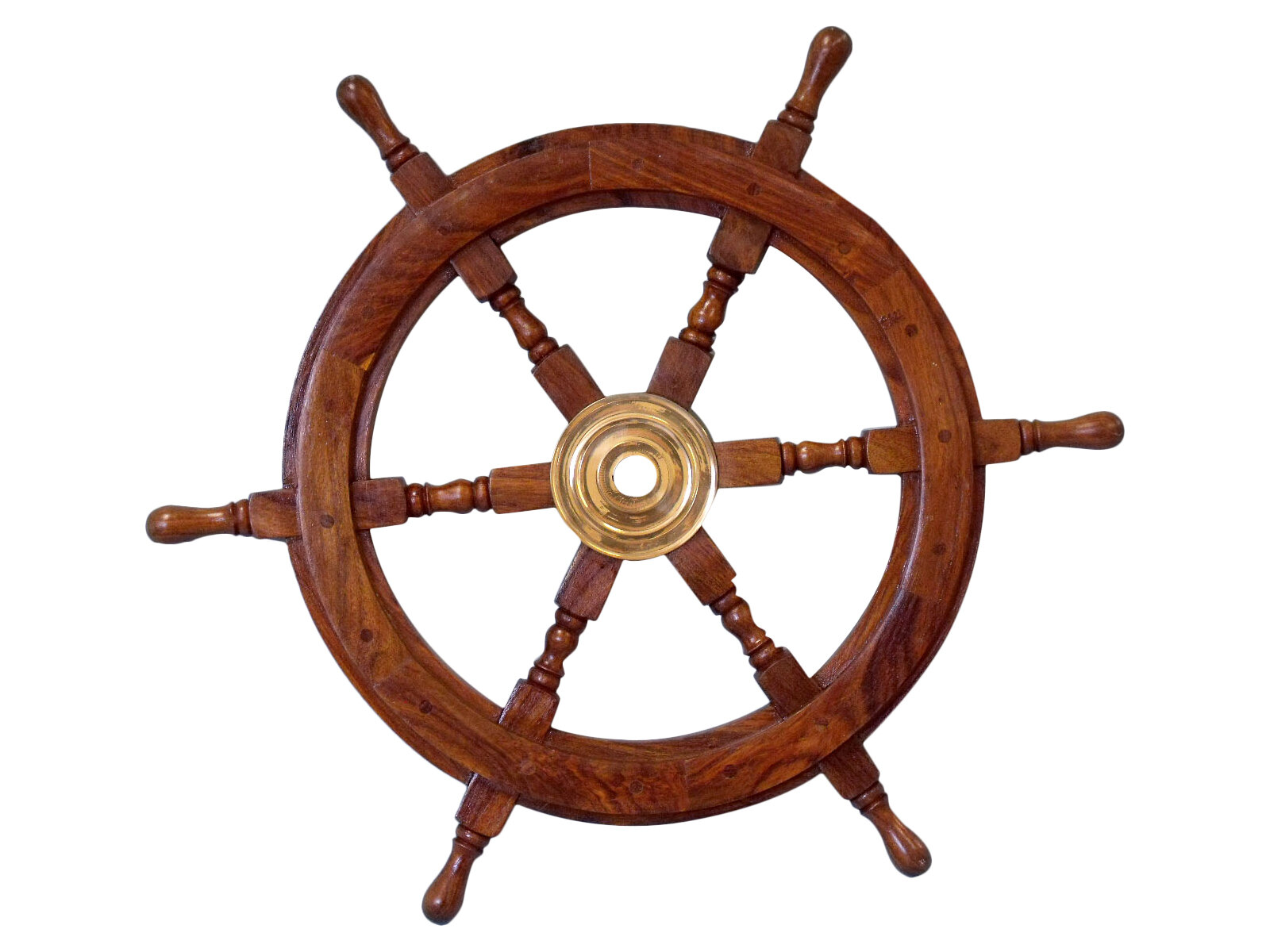 Beachcrest Home Brown Br Wood Ship Wheel Wall Décor Reviews Wayfair
