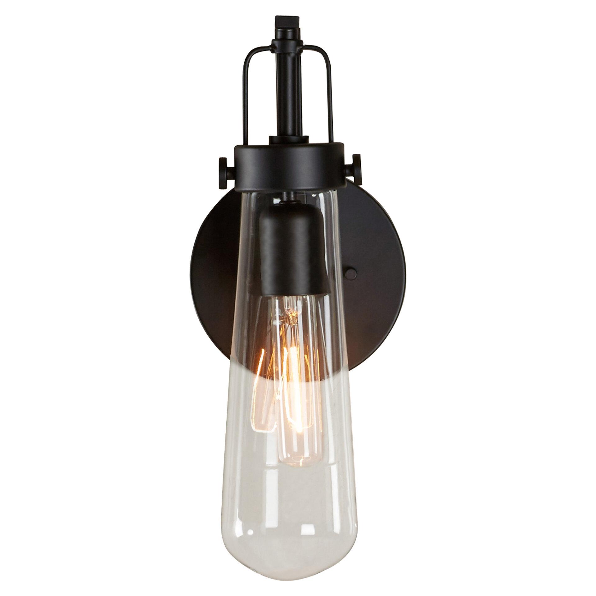 led sconce light wall mounted trent austin design alguno 1light led armed sconce reviews wayfair