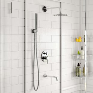 Bustillos Diverter Complete Shower System With 8 Inch Rain Handheld And Tub Filler Includes Rough In Valve