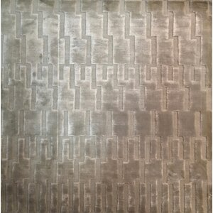 High Low, Art Silk, Silver (3' Square) Rug