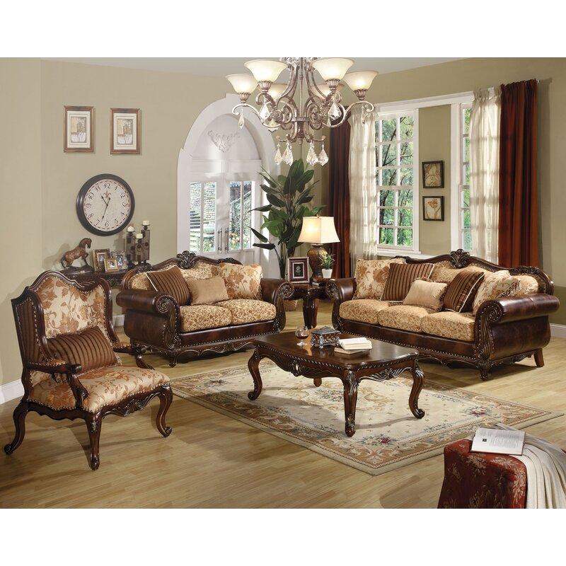 Astoria Grand Beardsley 3 Piece Living Room Set Wayfair