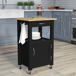 Turcios Kitchen Island Cart With Natural Wood Top Top Reviews