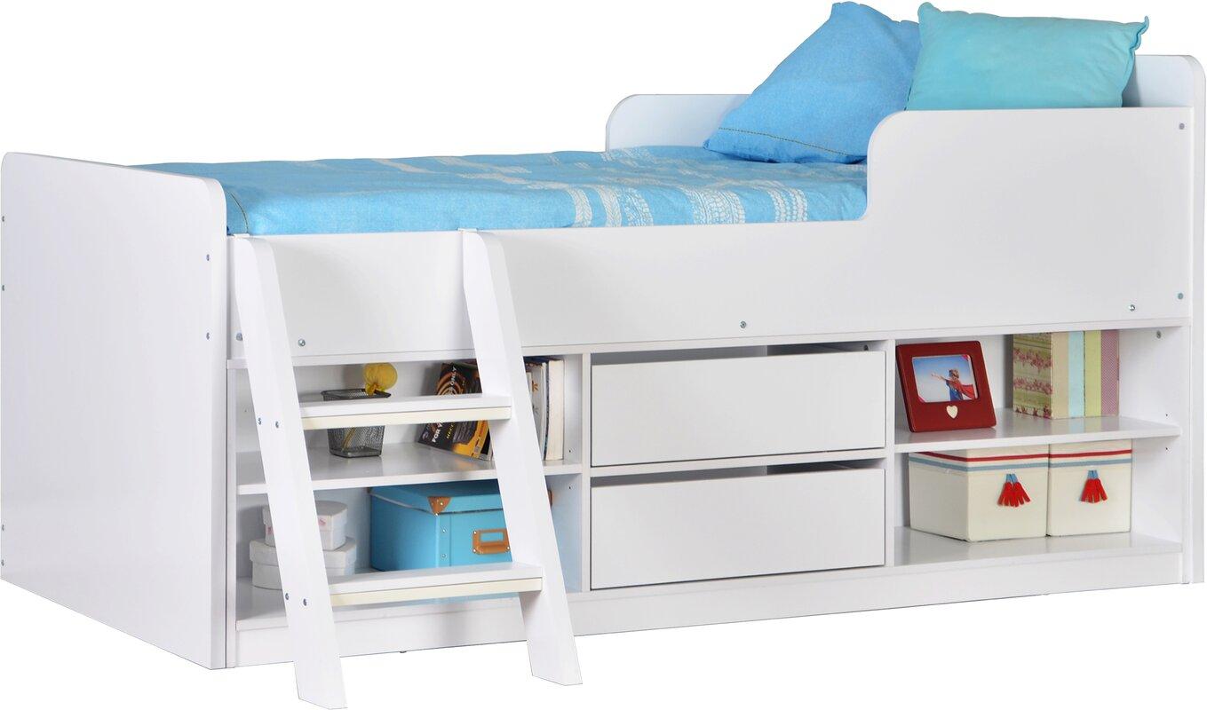 viv rae felix single mid sleeper bed reviews wayfair. Black Bedroom Furniture Sets. Home Design Ideas