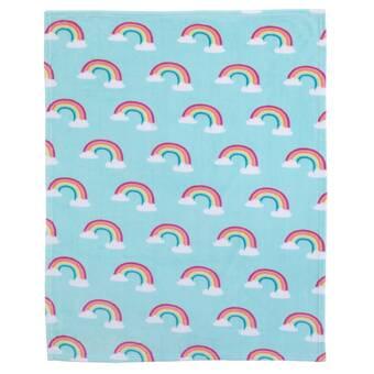 135ad33a712f Carter's Rainbow Super Soft Coral Fleece Toddler Blanket | Wayfair