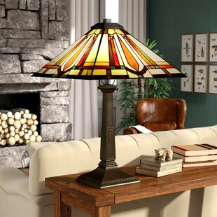 Jubilee Stained Gl Mission Style 24 Table Lamp