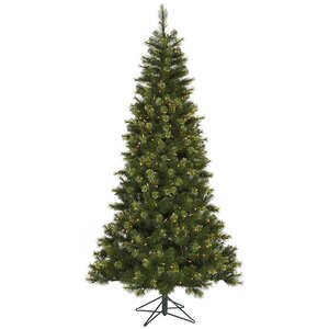 7.5' Jack Pine Artificial Christmas Tree with LED Clear Lights