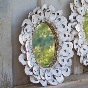 ea8db92c1ba Oyster Shell and Glass Accent Mirror