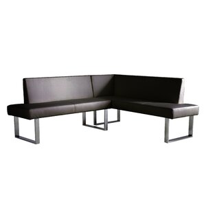 Robb Faux Leather Corner Bench