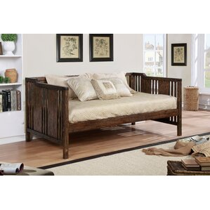 Webb Transitional Daybed with Mattress by Loon Peak Image