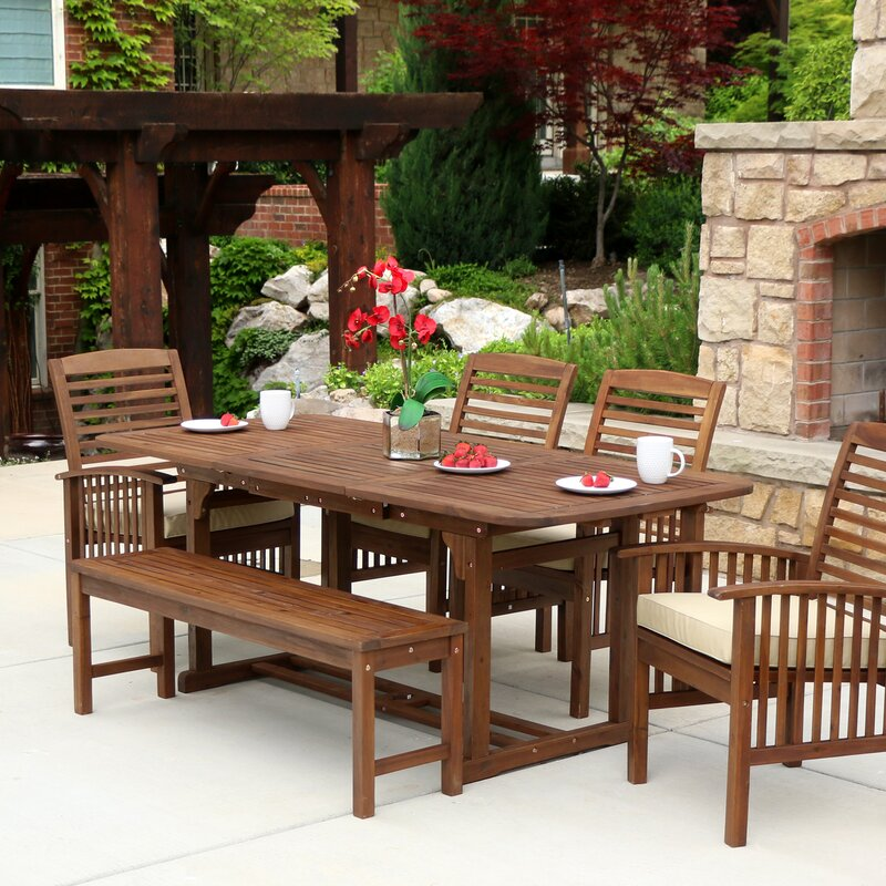 nichols 6 piece dining set with cushion
