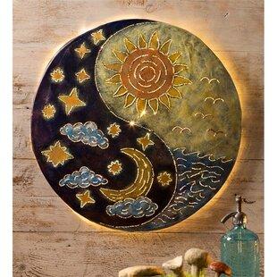 Sun And Moon By Yin Yang Art Print Plaque