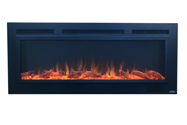 Slate Steel Wall Mounted Electric Fireplace Reviews Allmodern