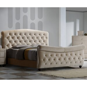 Diamond Upholstered Panel Bed by Meridian Furniture USA
