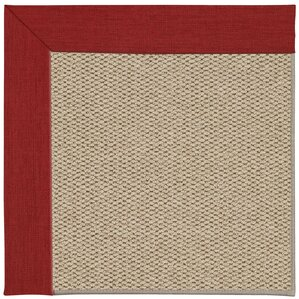 Inspirit Champagne Machine Tufted Apple Red/Brown Area Rug