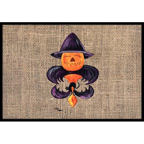 Caroline 39 S Treasures Halloween Pumpkin Bat Fleur De Lis Doormat Reviews Wayfair