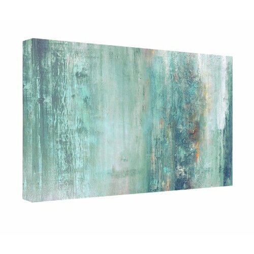 39 abstract spa 39 framed graphic art print on canvas blue for Abstract salon of the arts