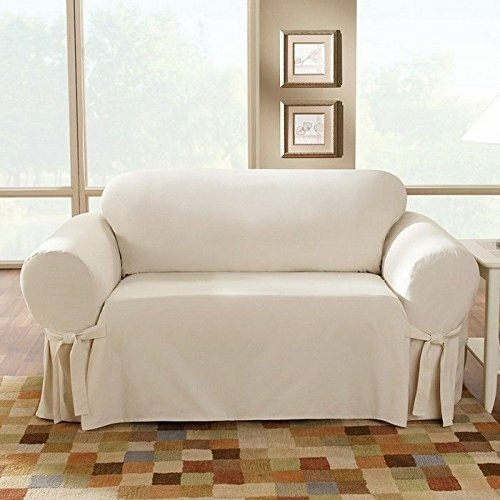 Sure Fit Cotton Duck Loveseat Skirted Slipcover Reviews
