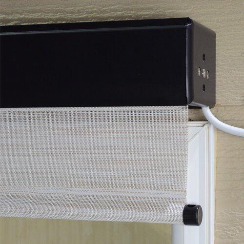 Premium Motorized Outdoor Solar Shade Reviews Birch Lane