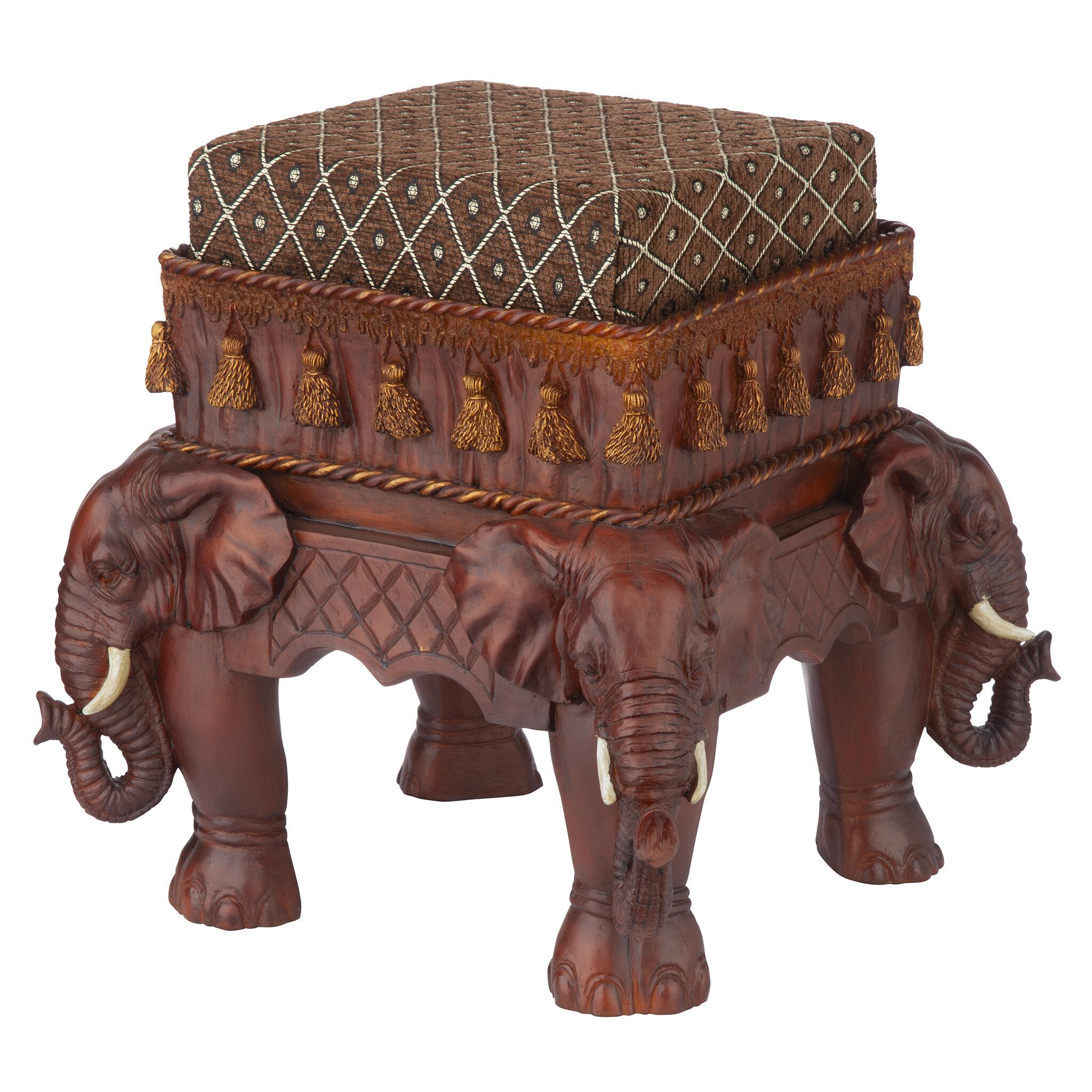 659c23d8f707 Design Toscano The Maharajah s Elephants Ottoman   Reviews