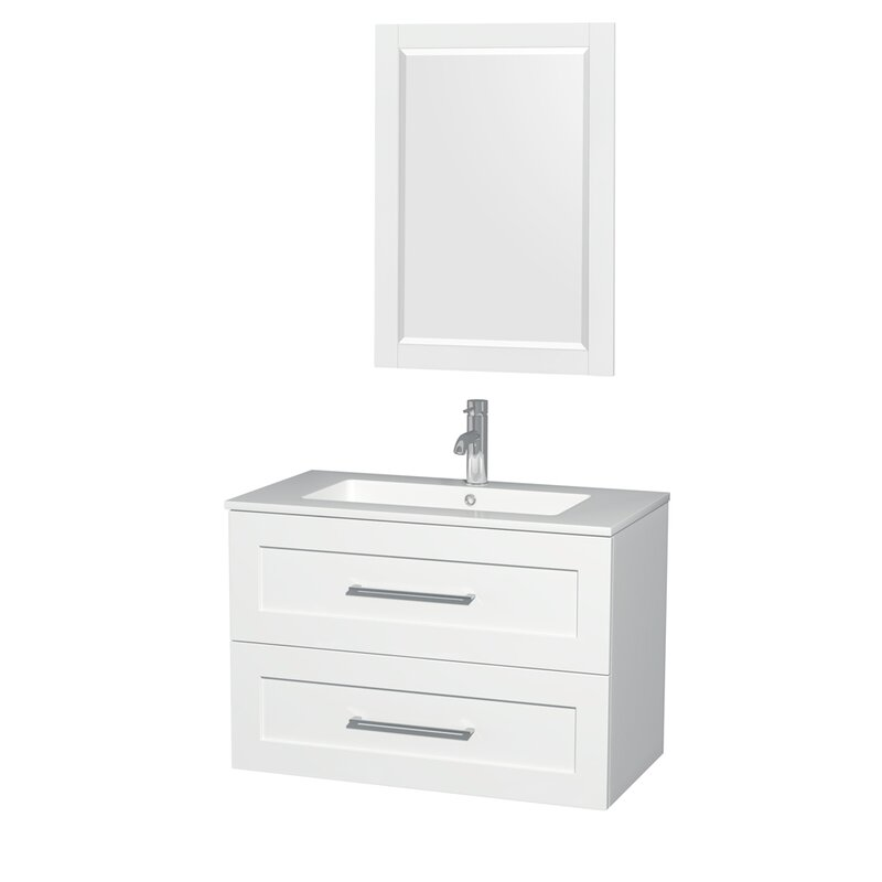 "White Bathroom Vanity 36 wyndham collection olivia 36"" single glossy white bathroom vanity"