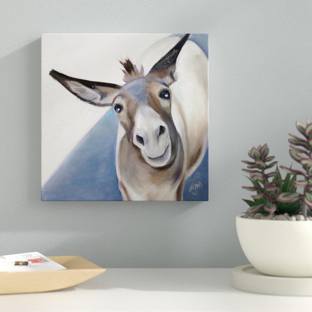 83c5bf8f48 Ebern designs grey donkey acrylic painting print wayfair jpg 1000x1000  Streamlined donkey