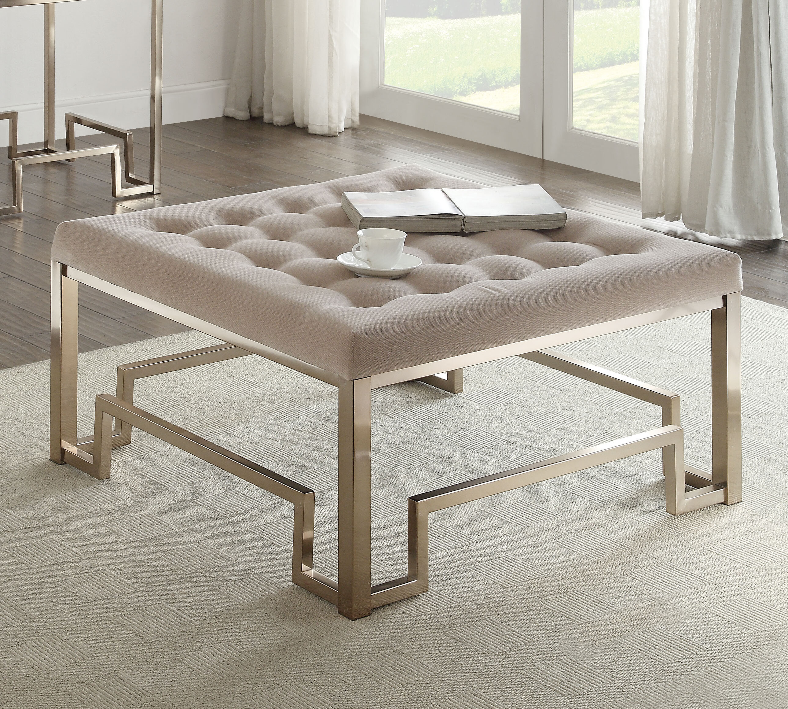 ACME Furniture Damien Fabric Coffee Table & Reviews
