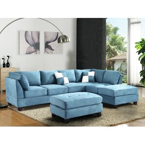 Childress Sectional  sc 1 st  Wayfair : blue sectional sofa with chaise - Sectionals, Sofas & Couches