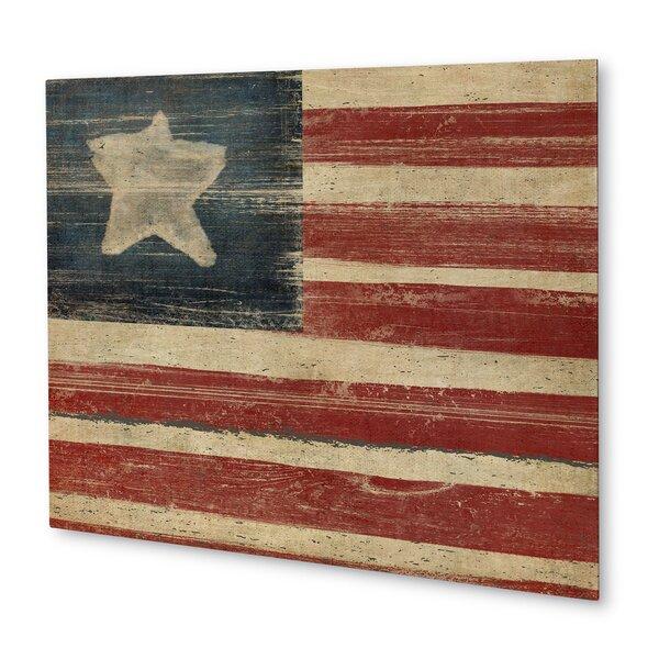 Rustic American Flag Wall Art