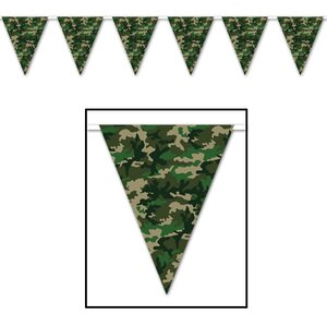 Camo Pennant Banner